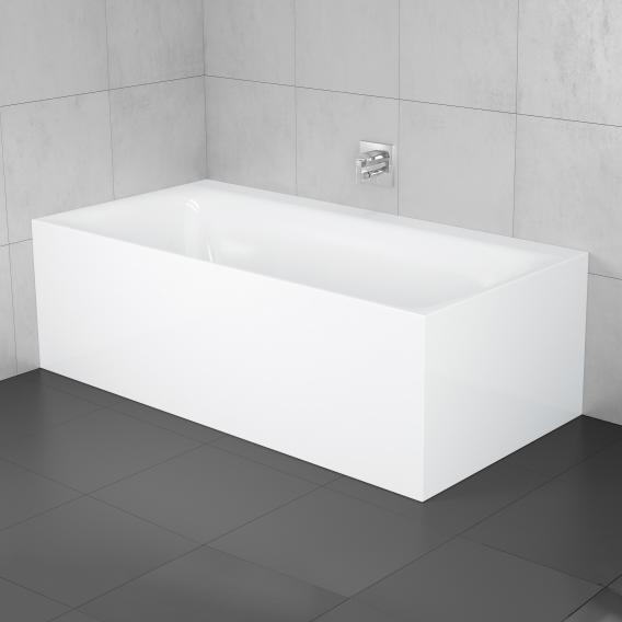 Bette Lux Silhouette Side Badewanne Wanne weiß, Ablaufgarnitur weiß