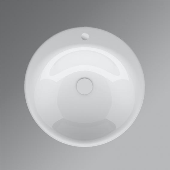 Bette Lux Oval Einbau-Waschtisch weiß, mit 1 Hahnloch