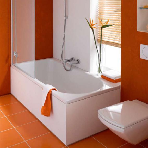 Bette Ocean Low-Line Rechteck Badewanne, Überlauf vorne weiß