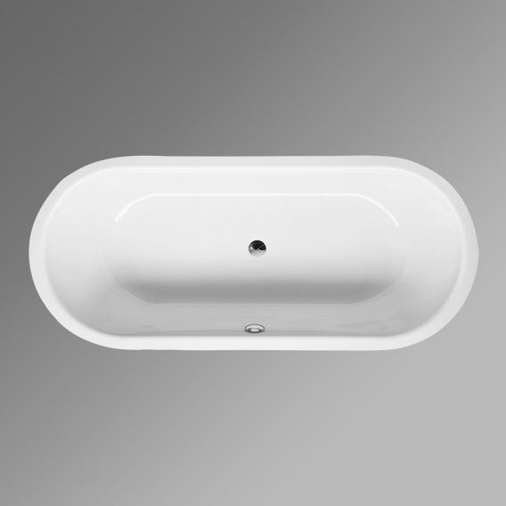 Bette Starlet Flair Oval-Badewanne, Einbau weiß, mit BetteGlasur Plus