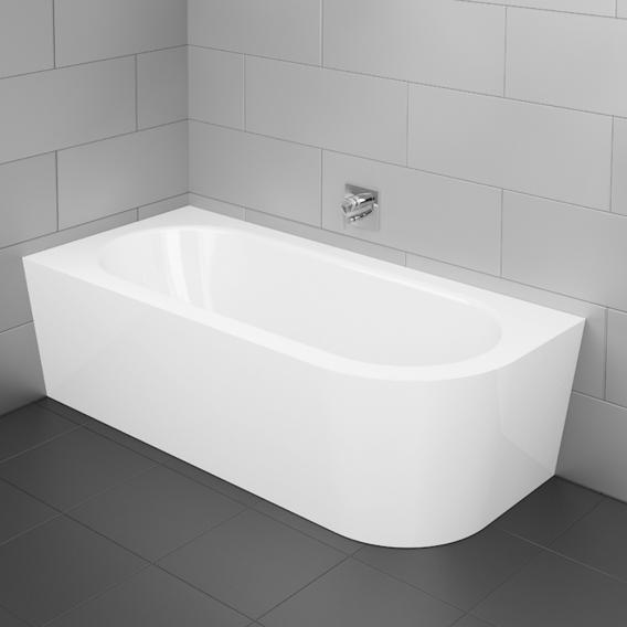 Bette Starlet Silhouette Eck-Badewanne mit Verkleidung Wanne weiß, mit BetteGlasur Plus, Ablaufgarnitur chrom