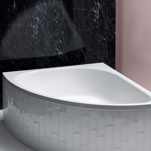 Bette Arco Eck-Badewanne, Einbau weiß, mit BetteAntirutsch gesamte Bodenfläche, mit BetteGlasur Plus