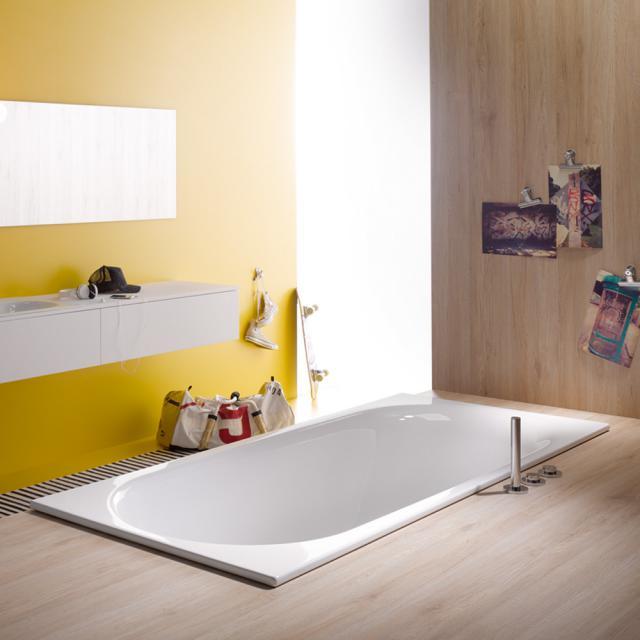 Bette Comodo Rechteck-Badewanne, Einbau weiß, mit BetteAntirutsch, mit BetteGlasur Plus