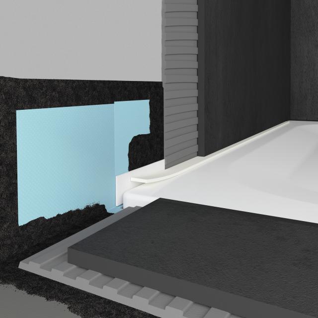Bette Dichtsystem Pro für bodenebene Montage von Duschwannen