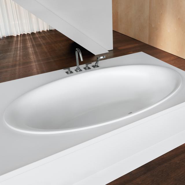 Bette Eve Oval-Badewanne, Einbau weiß matt