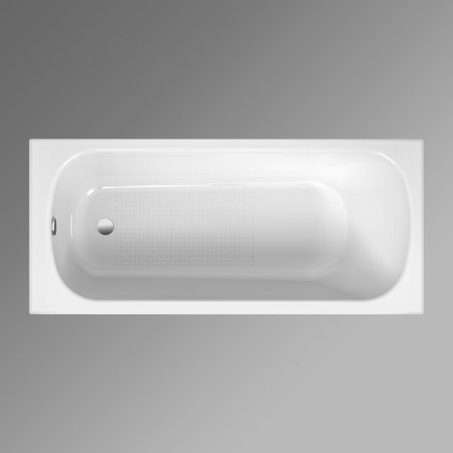 Bette Form Rechteck-Badewanne, Einbau weiß, mit BetteAntirutsch, mit BetteGlasur Plus, für Griffmontage