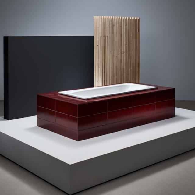 Bette Form Rechteck-Badewanne, Einbau weiß, mit BetteAntirutsch, mit BetteGlasur Plus
