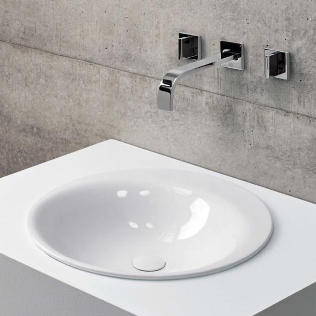 Bette Lux Oval Einbau-Waschtisch weiß, ohne Hahnloch