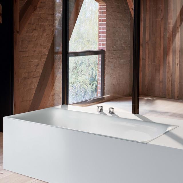Bette Lux Rechteck-Badewanne, Einbau weiß, mit BetteGlasur Plus