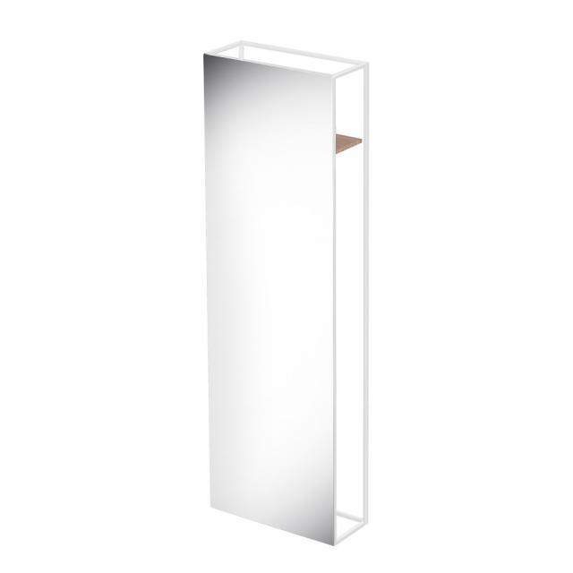 Bette Lux Shape Standspiegel mit Ablage und Haken verspiegelt/weiß matt/eiche crème