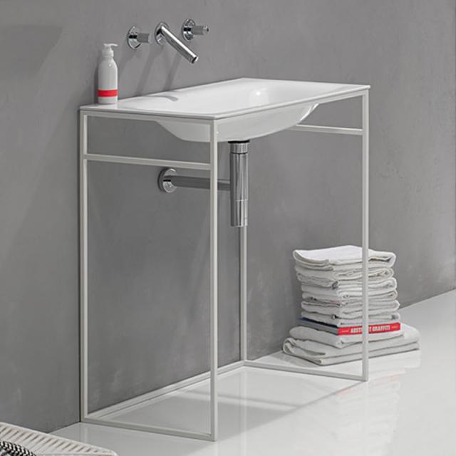 Bette Lux Shape Waschtisch mit Rahmengestell weiß/weiß matt