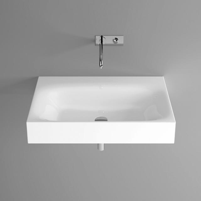 Bette Lux Wand-Waschtisch weiß, mit BetteGlasur Plus, ohne Hahnloch