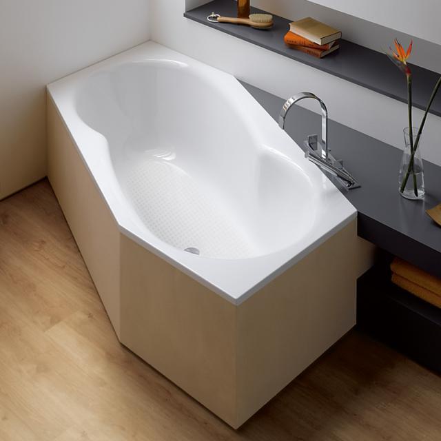 Bette Metric Sechseck-Badewanne, Einbau weiß, mit BetteAntirutsch gesamte Bodenfläche
