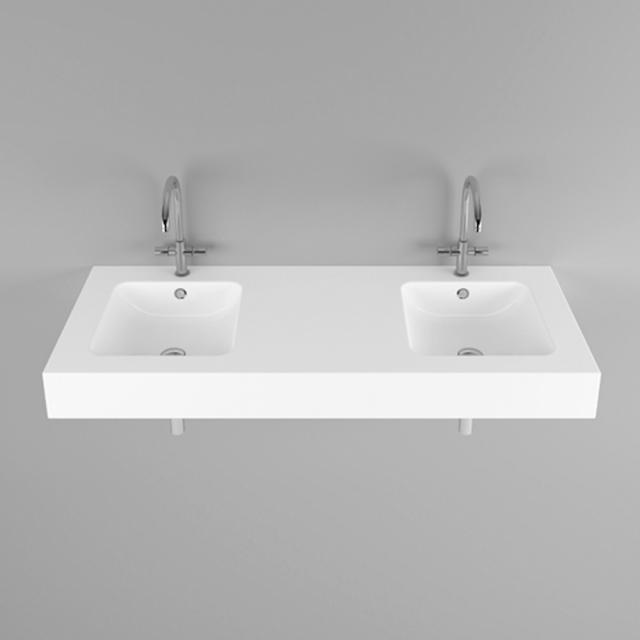 Bette One Doppel-Wandwaschtisch weiß