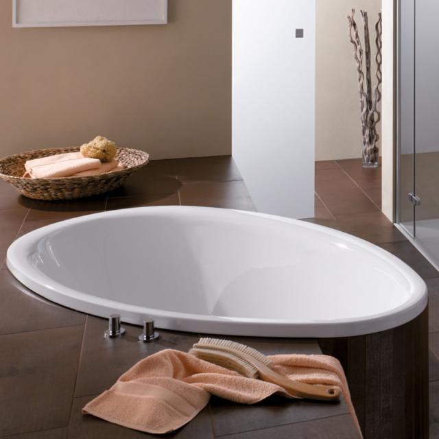 Bette Pool Oval-Badewanne, Einbau weiß, mit BetteGlasur Plus