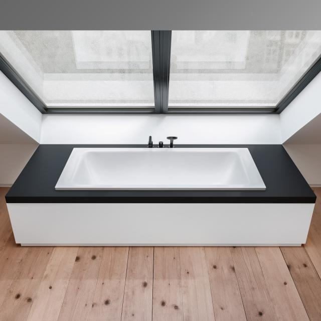Bette Select Duo Rechteck-Badewanne, Einbau weiß matt, mit BetteAntirutsch