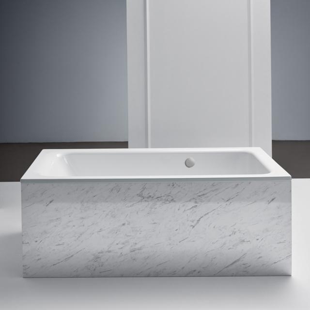 Bette Select Rechteck-Badewanne, Einbau, mit seitlichem Überlauf hinten weiß, mit BetteAntirutsch