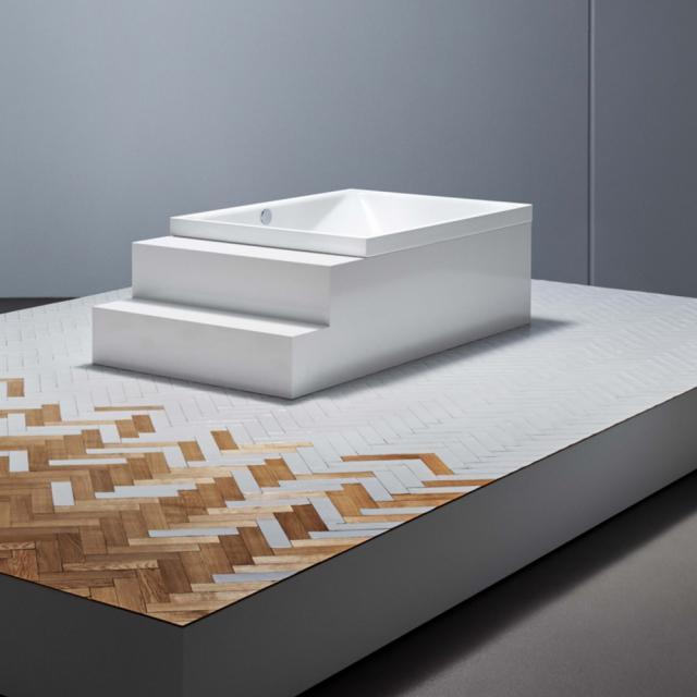 Bette Spa Rechteck-Badewanne, Überlauf hinten weiß