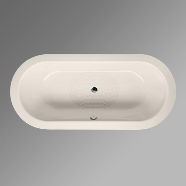 Bette Starlet Oval-Badewanne, Einbau pergamon, mit BetteAntirutsch, mit BetteGlasur Plus, für Griffmontage