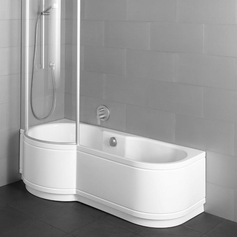 Badewanne mit duschzone 180  Bette Cora Comfort Badewanne für Eckeinbau, Duschzone Links weiß ...