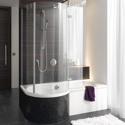 badewanne mit duschabtrennung. Black Bedroom Furniture Sets. Home Design Ideas