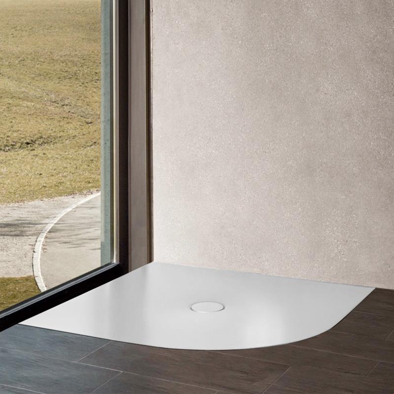 bette floor corner viertelkreis duschwanne weiss. Black Bedroom Furniture Sets. Home Design Ideas