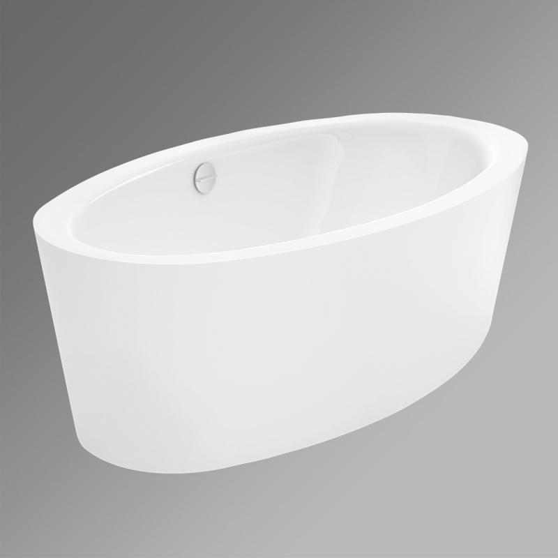 Bette Home Oval Silhouette freistehende Badewanne weiß mit ... | {Freistehende badewanne oval 70}