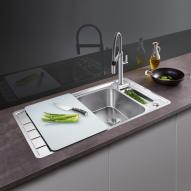 Blanco Axis III 5 S-IF sink stainless steel silk gloss