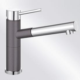 Blanco Alta-S Compact Einhebelmischer, mit Ausziehbrause felsgrau