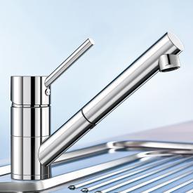 Blanco Antas-S Einhebelmischer, Ausladung 192 mm, Auslauf ausziehbar chrom
