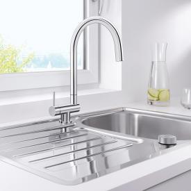 Blanco Coressa-F Einhebel-Küchenarmatur mit Schwenkauslauf Hebel links