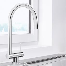 Blanco Coressa-F Einhebel-Küchenarmatur mit Schwenkauslauf Hebel rechts