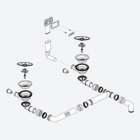 Blanco InFino® Ablaufgarnitur, Sieb ohne Ablauffernbedienung C-overflow®