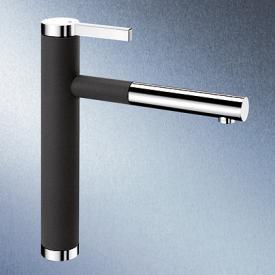 Blanco Linee-S Einhebelmischer, Ausladung 208 mm, Auslauf ausziehbar anthrazit/chrom