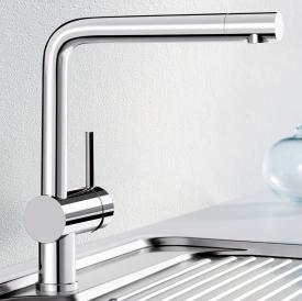 Blanco Linus Einhebelmischer, Auslauf 360° schwenkbar chrom