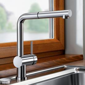 Blanco Linus-S-F Einhebelmischer, mit Ausziehbrause, für Niederdruck, für Vorfenstermontage
