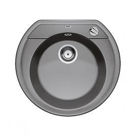 Blanco Rondoval 45 Spüle Becken SILGRANIT®PuraDur® II aluminium metallic