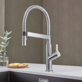 Blanco Solenta-S Senso Einheben-Küchenarmatur mit Auszugsbrause edelstahl