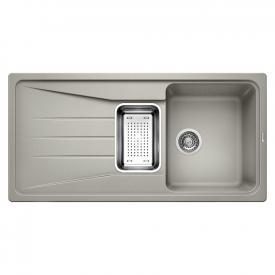 Blanco Sona 6 S drehbare Spüle B: 100 T: 50 cm Becken SILGRANIT®PuraDur® II perlgrau