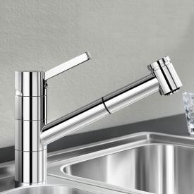 Blanco Tivo-S Einhebelmischer, Ausladung 215 mm, Brause ausziehbar chrom
