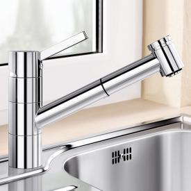 Blanco Tivo-S-F Einhebelmischer für Vorfenstermontage, Brause ausziehbar, für Niederdruck