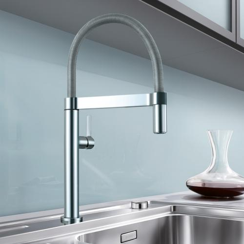 blanco culina s mini einhebelmischer ausladung 202 mm edelstahl 519844 reuter. Black Bedroom Furniture Sets. Home Design Ideas