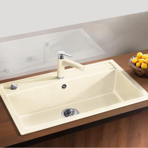blanco dalago 8 sp le becken silgranit puradur ii champagner 516635 reuter. Black Bedroom Furniture Sets. Home Design Ideas