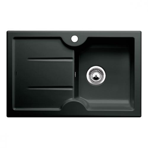 blanco idessa 45 s sp le becken keramik schwarz 514500 reuter. Black Bedroom Furniture Sets. Home Design Ideas