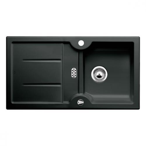blanco idessa 5 s drehbare sp le becken keramik schwarz 516082 reuter. Black Bedroom Furniture Sets. Home Design Ideas