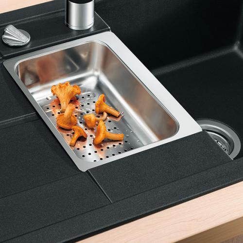 blanco metra 6 s compact sp le becken silgranit puradur. Black Bedroom Furniture Sets. Home Design Ideas