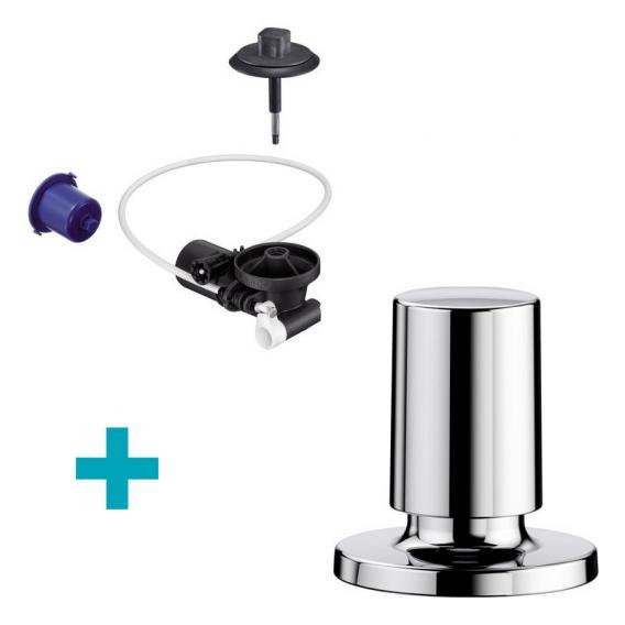 Blanco InFino® Nachrüst-Set für  InFino®-Ablaufsystem, mit Comfort Zug-Ablauffernbedienung, Kuststoff