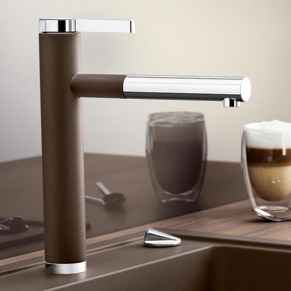 Blanco Linee-S Einhebelmischer, mit Ausziehbrause kaffee