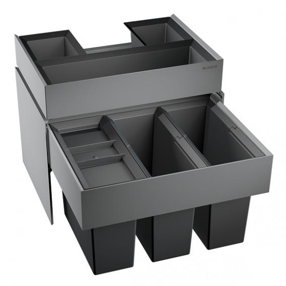 Blanco Select Abfallsystem mit 3 Eimern mit Organistationsschublade