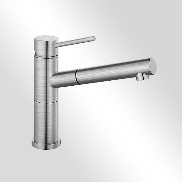 blanco alta s compact einhebelmischer ausladung 200 mm auslauf ausziehbar edelstahl geb rstet. Black Bedroom Furniture Sets. Home Design Ideas